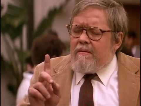 Dr. Meredith in the bit of advice scene from the movie Real Genius