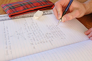 Homework - vector maths.jpg, Me and my homework, by Fir0002, From Wikimedia commons, published under Creative Commons license: Attribution NonCommercial Unported 3.0