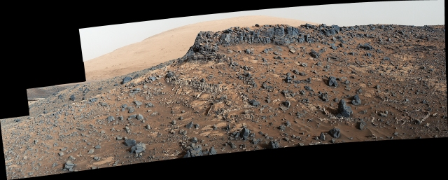 This March 27, 2015, view from the Mast Camera (Mastcam) on NASA's Curiosity Mars rover shows a site with a network of prominent mineral veins below a cap rock ridge on lower Mount Sharp. https://www.nasa.gov/mission_pages/mars/images/index.html